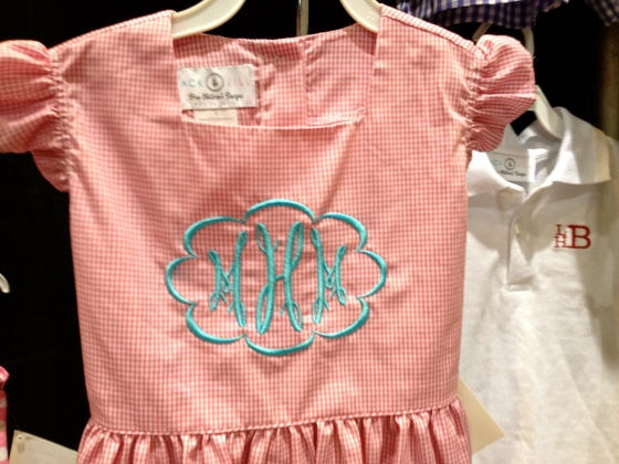 cute gingham and monogramming by Jack &  Jill Designs